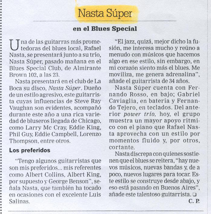 Nasta Super - Blues Special